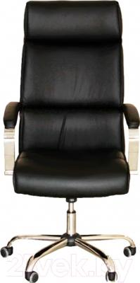 Кресло офисное Седия Adrian Chrome Eco (черный) - вид спереди
