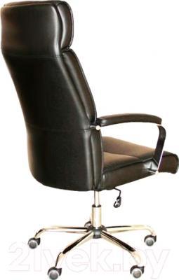 Кресло офисное Седия Adrian Chrome Eco (черный) - вид сзади