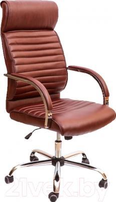 Кресло офисное Седия Alexander Chrome Eco (коричневый)