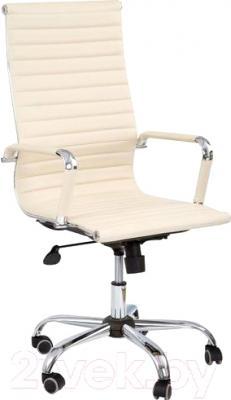 Кресло офисное Седия Elegance Chrome Eco (кремовый)