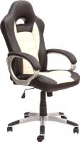 Кресло офисное Седия Ferrari Eco (черный/белый) -