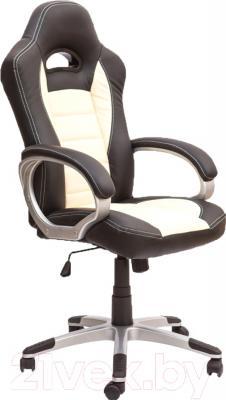 Кресло офисное Седия Ferrari Eco (черный/белый)