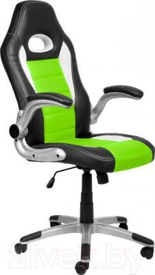 Кресло офисное Седия Lotus Eco (черный/белый/зеленый)