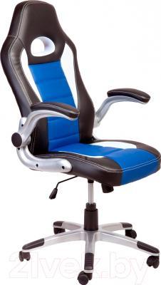 Кресло офисное Седия Lotus Eco (черный/белый/темно-синий)