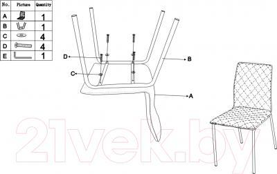 Стул Седия Gustav / Gustov (хром/серый) - инструкция по сборке