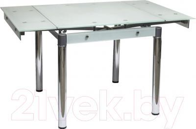 Обеденный стол Седия Karlota 16 (хром/белый) - в разложенном виде