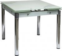 Обеденный стол Седия Karlota 16 (хром/белый с рисунком) -