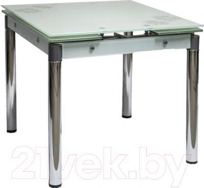 Обеденный стол Седия Karlota 16 (хром/белый с рисунком)