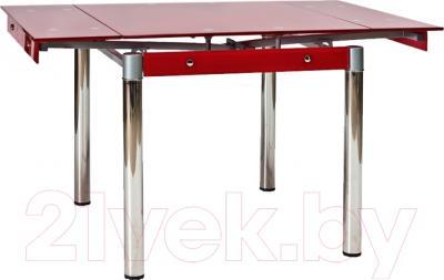 Обеденный стол Седия Karlota 16 (хром/красный)