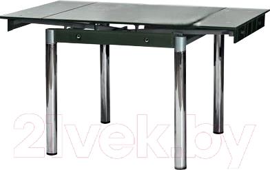Обеденный стол Седия Karlota 16 (хром/черный с рисунком)