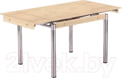 Обеденный стол Седия Karlota 18 (хром/кремовый)
