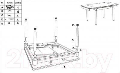 Обеденный стол Седия Karlota 18 (хром/кремовый) - инструкция по монтажу
