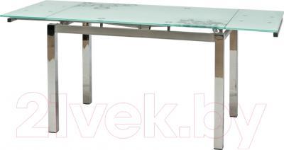Обеденный стол Седия Karlota 2 (хром/белый с рисунком)
