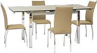Обеденный стол Седия Karlota 2 (хром/кремовый) -
