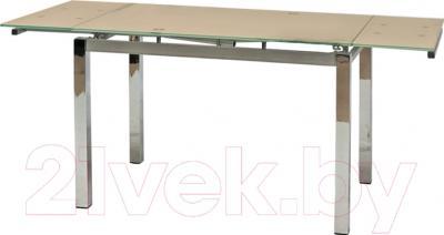Обеденный стол Седия Karlota 2 (хром/кремовый)