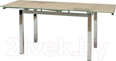 Обеденный стол Седия Karlota 2 (хром/крем с рисунком)