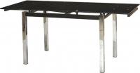 Обеденный стол Седия Karlota 2 (хром/черный) -
