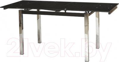 Обеденный стол Седия Karlota 2 (хром/черный)