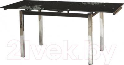 Обеденный стол Седия Karlota 2 (хром/черный с рисунком)