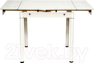 Обеденный стол Седия Karlota 66 (кремовый) - в разложенном виде