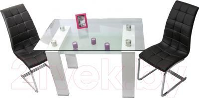 Обеденный стол Седия Romana (белый) - вид сверху