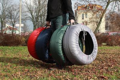 Чехол для колес ТрендБай Коверин 220 (зеленый)