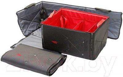 Складной ящик-органайзер ТрендБай Фолдин 1063 (красный) - в сложенном и разложенном состоянии