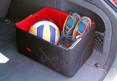 Складной ящик-органайзер ТрендБай Фолдин 1063 (красный) - размещение в багажнике