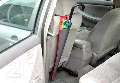 Автомобильный чехол для зонта ТрендБай Дрэйнин 1053 (серо-красный) - закреплен к сиденью