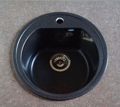Мойка кухонная Polygran F-05 (черный)