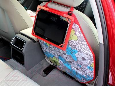 Накидка на автомобильное сиденье ТрендБай Лэйнин Пэд 1103 (снежинки) - закреплен на кресле