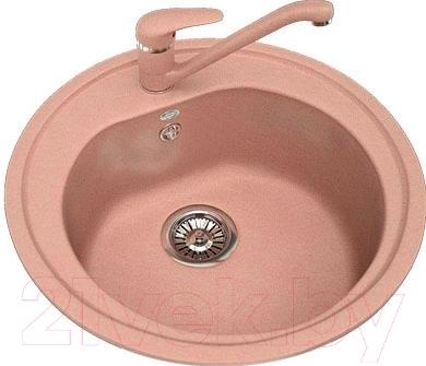 Мойка кухонная Polygran F-05 (розовый)