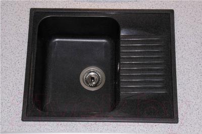 Мойка кухонная Polygran F-07 (черный)