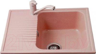 Мойка кухонная Polygran F-07 (розовый)