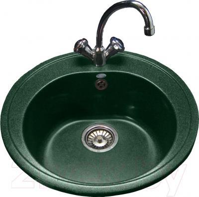 Мойка кухонная Polygran F-08 (зеленый)