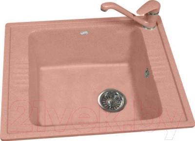 Мойка кухонная Polygran F-20 (розовый)