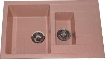 Мойка кухонная Polygran F-21 (розовый)