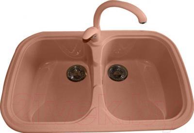 Мойка кухонная Polygran F-150 (розовый)