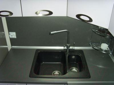 Мойка кухонная Polygran F-09 (черный)