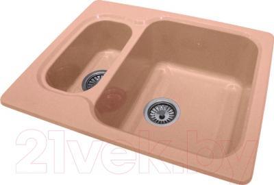 Мойка кухонная Polygran F-09 (розовый)