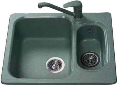 Мойка кухонная Polygran F-09 (зеленый)