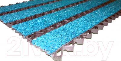 Грязезащитный коврик Примекс Престиж-16 400x700 (сталь/голубой меридиан)