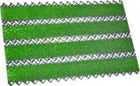 Грязезащитный коврик Примекс Престиж-16 400x700 (сталь/зеленая травка) -