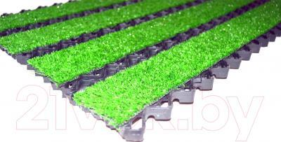 Грязезащитный коврик Примекс Престиж-16 400x700 (сталь/зеленая травка)