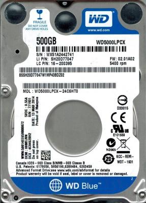 Жесткий диск Western Digital 500GB (WD5000LPCX)