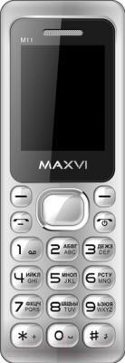 Мобильный телефон Maxvi M11 (серебристый)