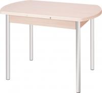 Обеденный стол Древпром М2 100х67 (металлик/ясень) -