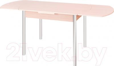 Обеденный стол Древпром М2 100х67 (металлик/ясень) - в разложенном виде