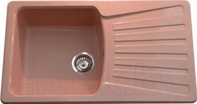 Мойка кухонная Polygran F-12 (розовый)