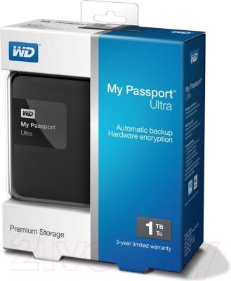 Внешний жесткий диск Western Digital My Passport Ultra 1TB Black (WDBGPU0010BBK-EESN)